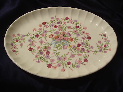 "Ws George Fiesta Small Oval Platter 11.75"" Flowers Ribbon"