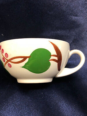 Blue Ridge Southern Pottery 3 Partridge Berry Cups Red