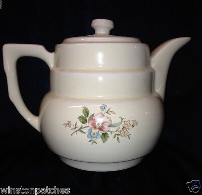 Hall Dripolater Coffee Pot Pink Rose Floral Spray 8 Cup