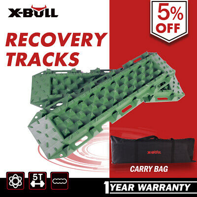 X-BULL Pair Recovery Tracks Sand Track BLACK Mud Snow Trax Car ATV 4WD