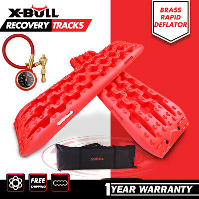 X-BULL  Recovery Tracks Sand Trax Tyre Red Ladder Snow Mud Car Vehicles 4WD 4x4