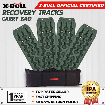 X-BULL Pair Recovery Tracks Green Sand Mud Snow Grass Track 4WD 4x4 ATV Offroad