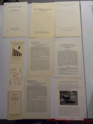 c.1929 National Society for Prevention of Blindness Pamphlet Lot Ophthalmology