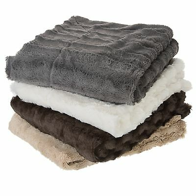 Cheer Collection Ultra Cozy & Soft Faux Fur Blanket - Assorted Colors and Size