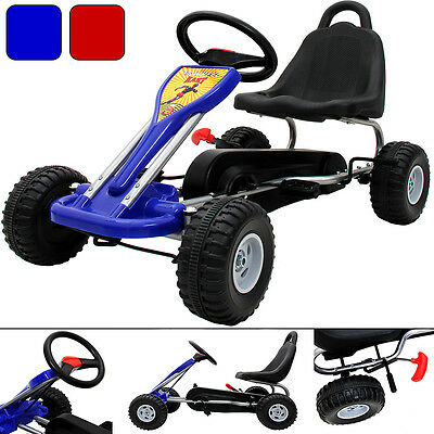 Pedal Kids Go Kart Gocart Ride On Childrens Cart Red Blue Toys outdoor games