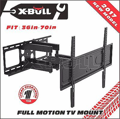 Ultra Slim TV Wall Mount Full Motion LED LCD 120 Degrees Swivel VESA Bracket