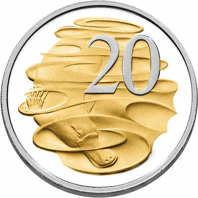 Australia: 2013 20 Cents Platypus Gold Plated Proof Limited