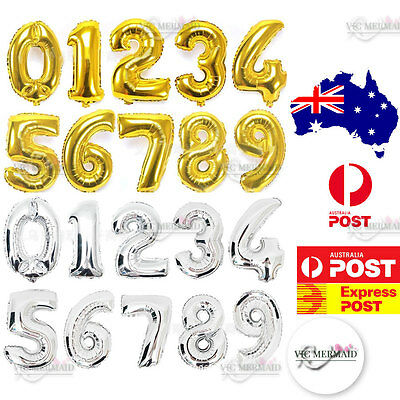 """Big Numbers Foil Balloons Birthday Anniversary Hens Party Decorations 81cm 32"""""""