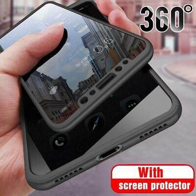 Hybrid 360° Shockproof Case Tempered Glass Cover For Apple iPhone 5s 6s 7 Plus