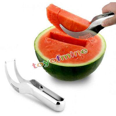 Edelstahl Wassermelone Obstmesser Hobel Messer Watermelon Slicer Knife Cutter