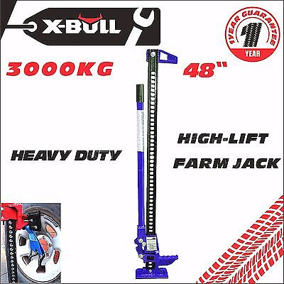 "X-BULL 3000Kg Hi Lift High Farm Jack BLUE 48"" inch Heavy Duty 4x4 4WD Lifter"