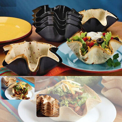 "Perfect 6"" Tortilla Pan Set Baking Cooking Kitchen Nonstick Taco Dips Salad Bowl"