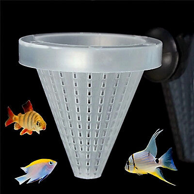 1PC Fish Aquarium Basket Food Feeder Live Worm Bloodworm Cone with Suction Cup