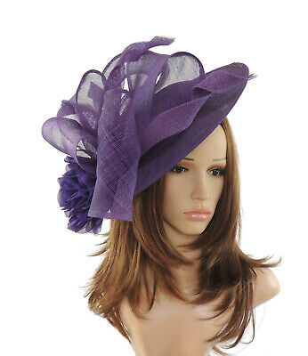 Large Purple Fascinator for Ascot, Weddings, Proms, Derby, Formal Events S1
