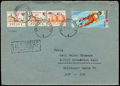Poland 1973 Smardzew Registered Cover #C34136