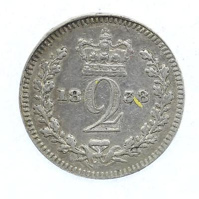 1838 Queen Victoria Maundy 2d Twopence Lot D6