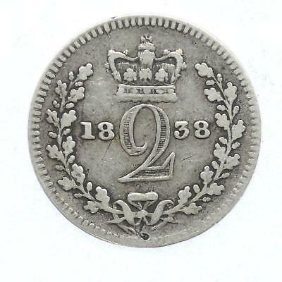 1838 Queen Victoria Maundy 2d Twopence Lot D8