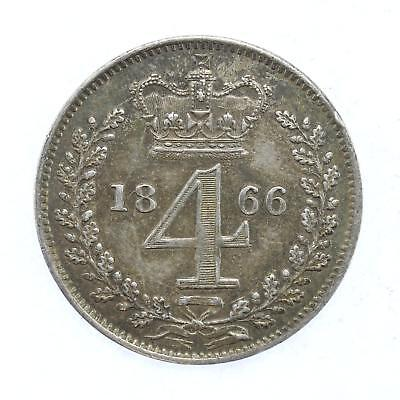 1866 Queen Victoria Maundy 4d Fourpence Coin D13