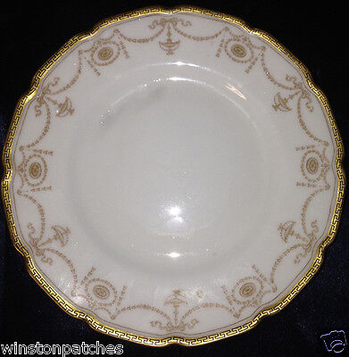 "Royal Doulton Abbess Bread & Butter Plate 6 1/8"" Gold Band Gold Design"
