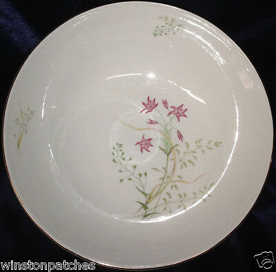 """Hutschenreuther 8267 Favorit Round Vegetable Bowl 9 5/8"""" Red Flowers Leaves"""