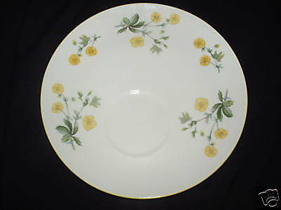 ROSINA QUEENS WAYSIDE SNACK PLATE ONLY (NO CUP) Yellow Flowers