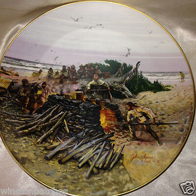 """Gorham Lewis & Clark Expedition The Saltmakers 10.75"""" Collector Plate Clymer"""