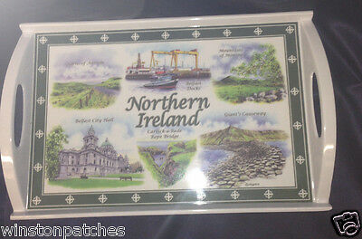"Elgate Northern Ireland 16"" By 10"" Melamine Souvenir Handled Tray Carrick A Rede"