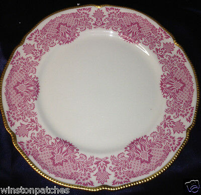 "Castleton Usa Victoria Rose 10 3/4"" Dinner Plate Pink Border Decor Gold Trim"