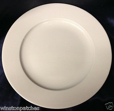"""Royal Mosa Holland Rms11 Dinner Plate 10 1/2"""" All White Smooth"""