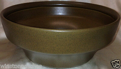 "Goebel Schwarzwald Round Serving Bowl 7 1/4"" Brown Background"