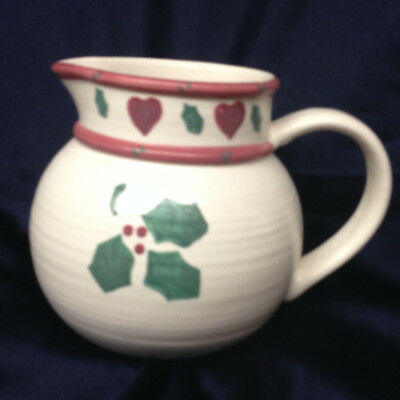 Treasure Craft Noel Holly Heart Holiday Pitcher