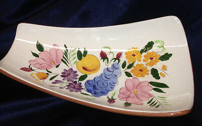"Stangl Fruit & Flowers 11.25"" Rectangular Relish Tray Footed"