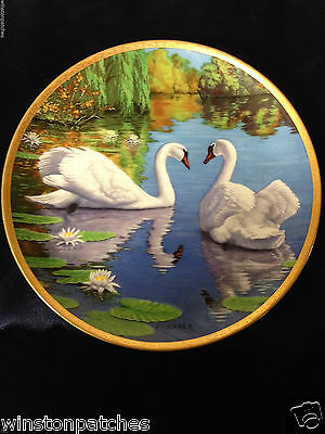 "W. S. George Elegant Birds The Swan 8.5"" Plate 1988 First Issue Faulkner 841 A"