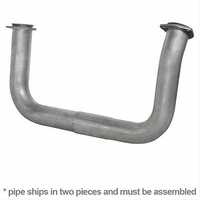 """DIAMOND EYE 321099 - 2.5"""" Exh Crossover Pipes Aluminized for GM 6.5L Diesel"""