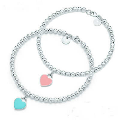 Fashion 925 Sterling Silver Plated Heart Bracelet BF09