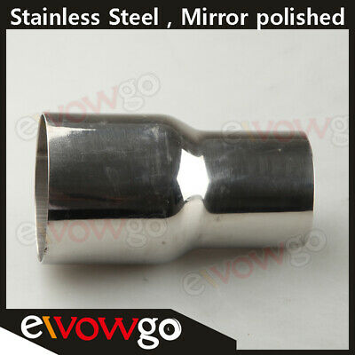 """3.5""""  To 4"""" Inch Weldable Turbo/exhaust Stainless Steel Reducer Adapter Pipe"""
