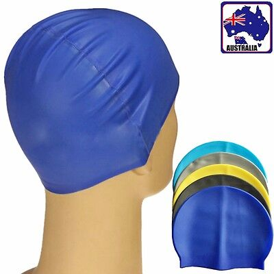 Silicone Swimming Cap Hat Swim Waterproof Ear Hair Protection Unisex OSCA 332