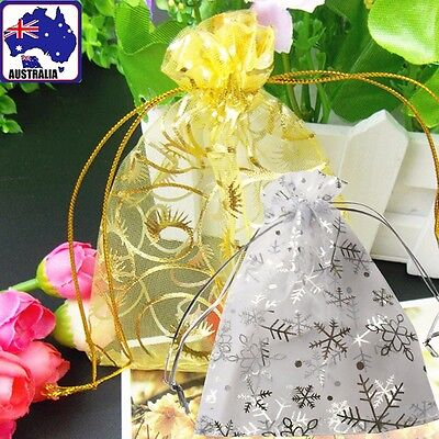 20pcs Organza Jewelry Pouch Bags Drawstring Wedding Gift Storage Holder WGIF 346