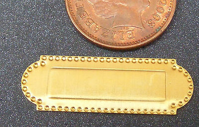 1:12 Scale Non Opening 1:12 Scale Brass Letterbox Dolls House Miniature Door W