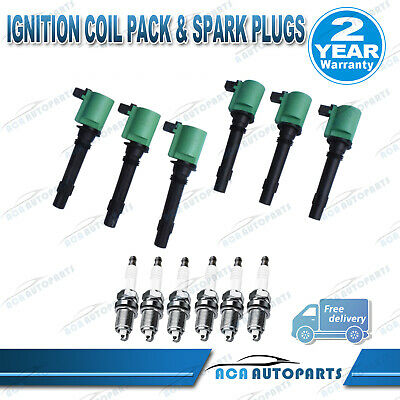 Ford Ignition Coil Pack + Spark Plugs AGSP22YE07 Falcon BA BF FG XR6 4.0L LPG