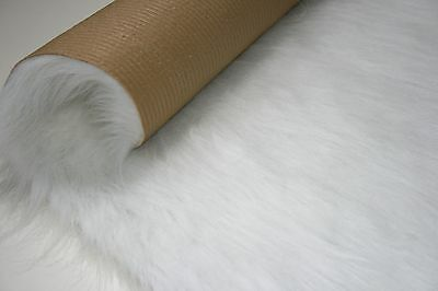 Long Faux Fur Sheepskin Rug 140cm x 70cm White