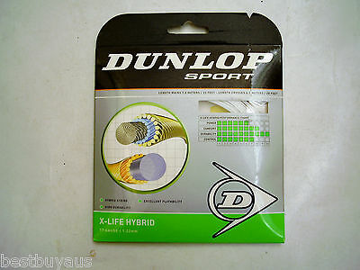 1 Set Dunlop X-Life Hybrid Tennis Racquet String 1.22Mm 17 Gauge