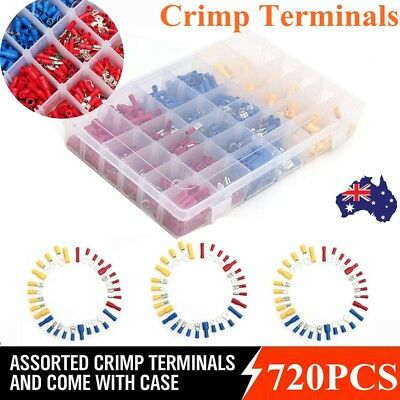 Assorted Crimp Terminals Set Insulated Electrical Wiring 720Pcs Connector Kit AU
