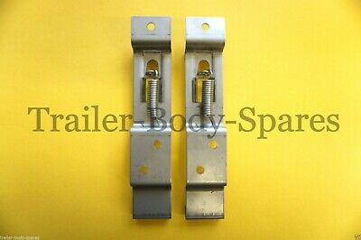 FREE UK POST- Stainless Steel Licence Number Plate Clip Holder - Trailer Caravan