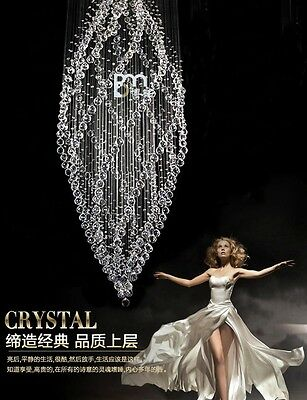 crystal chandelier Ceiling Lamp Fixture Curtain Pendant hang led light hall D8