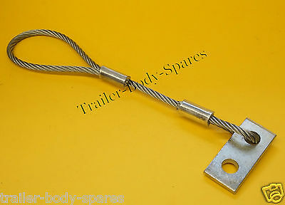 FREE UK Post - Trailer Secondary Coupling Safety Cable with Mounting Bracket