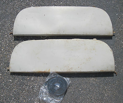 1953-1954 Chevrolet Fender skirts original pair with new rubber seals