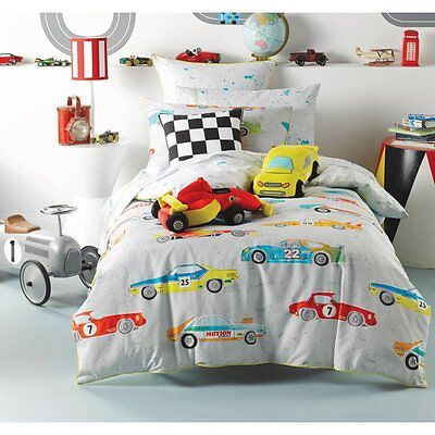 Fast lane multi boys car theme cotton bedding