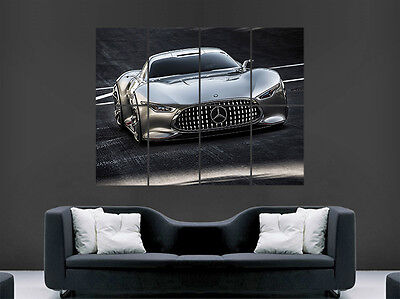 Mercedes Amg Supercar Art Wall Picture Poster  Giant