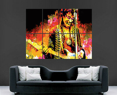 Jimi Hendrix Poster Music Art Legend Giant Wall Poster Picture Print Large Huge